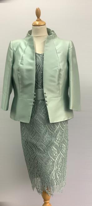Carla Ruiz pistachio lace suit (92639)