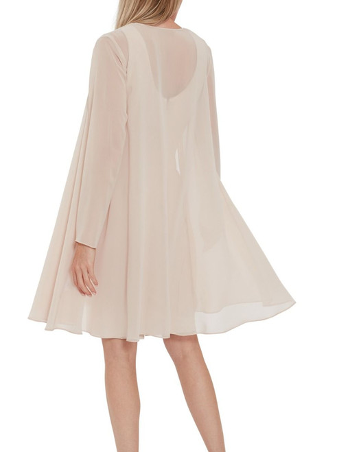 stylish long chiffon jacket ideal dresses or over trousers and cami.