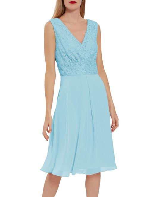 Gina Bacconi chiffon skirt metallic top dress (SBZ5736)