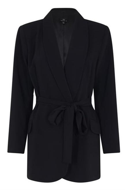 7764 71069 Molly Jo Black Tie Front Jacket ()
