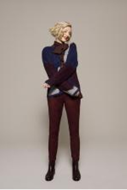 Rotello 760 40055 Stehmann Plum Suede Effect Trousers ()