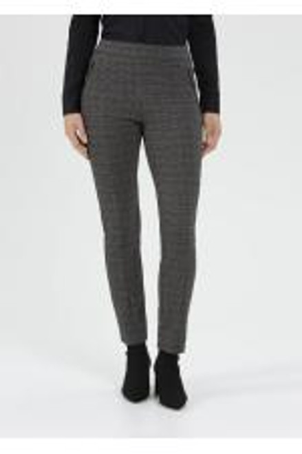 Imilia 745 63639 Stehmann Checked Trousers, Smart yet comfortable! these lovely trousers have an elasticated waist and plenty of stretch yet are smart enough for the office. They would equally work with ankle boots for a comfy weekend outfit.  'Check them out!'