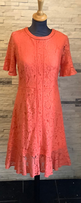 Tia lace short sleeve dress (78188)