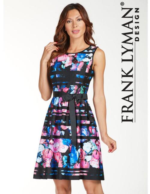 Frank Lyman Black/Multi Knit Dress (176274)
