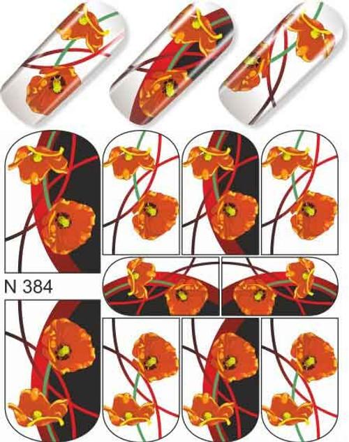 enVogue Simply Decals Black/Orange Flowers N384