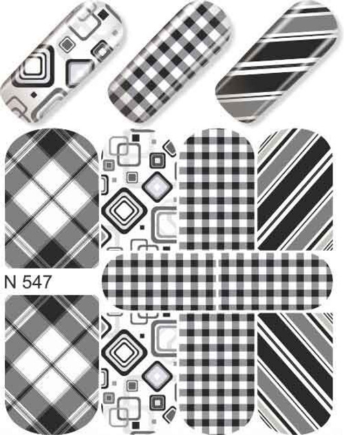 enVogue Simply Decals Black and White  Checkers and Squares N547