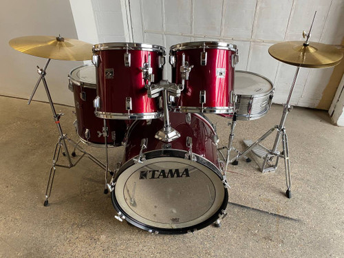 5pc Tama Rockstar Maroon Drum Set