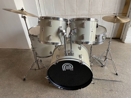 Complete 5pc White Drum Set