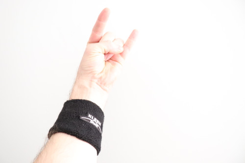 Klash Drums Wrist Sweatband Black