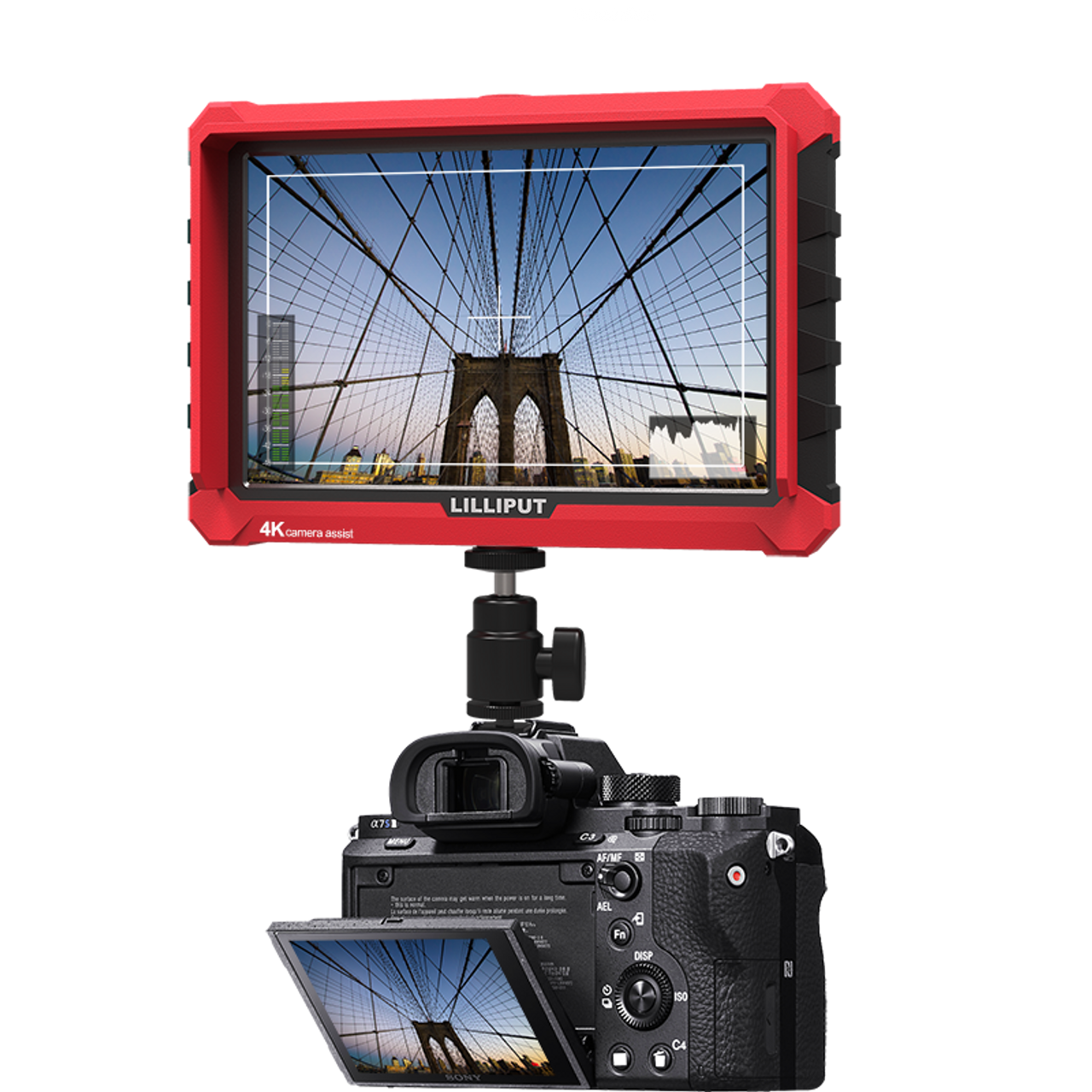 A7s Full HD 7 Inch Monitor with 4K camera assist