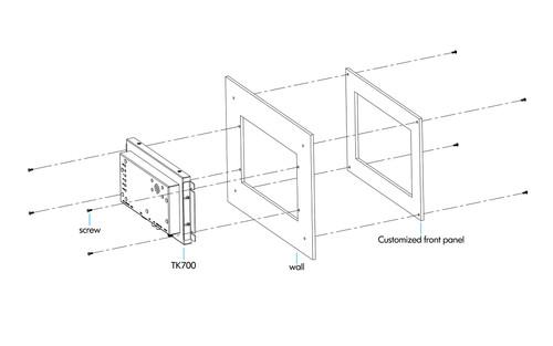 "TK700-NP/C 7"" Industrial Monitor"
