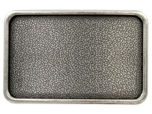 "Rectangular Plain Plaque Blank Plain Buckle Belt Buckle Fits 1-1/2"" (38mm) Wide Belt-Antique Silver"