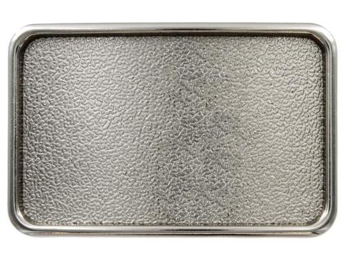 "Rectangular Plain Plaque Blank Plain Buckle Belt Buckle Fits 1-1/2"" (38mm) Wide Belt-Bright Silver"