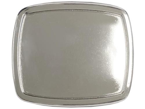 "Vintage Blank Plain Buckle Rectangular Belt Buckle Fits 1-1/2""(38mm) Belt Strap (Bright Silver)"