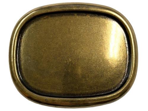"Raised Edge Blank Plain Buckle Belt Buckle Fits 1-1/2""(38mm) Wide Belt-Antique Brass"