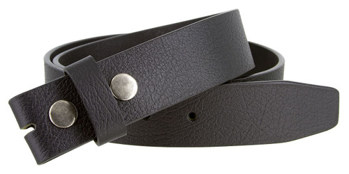 """BS1600 Genuine Full Grain Vintage Leather Belt Strap with Snaps on 1-1/2""""(38mm) wide"""