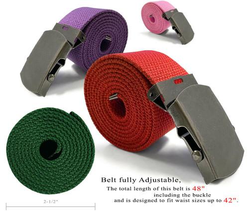 "Military Belt Canvas Belt Web Belt Non Leather Belt One Size fits all,  1-1/2""(38mm) Wide"