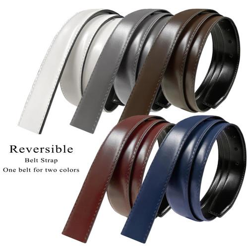 "Reversible Belt Strap Replacement Genuine Leather Dress Belt Strap, 1-1/8""(30mm) Wide"