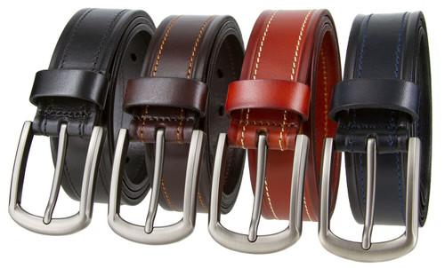 """LA1222 Italian Belt Genuine Full Grain Leather Casual Jean Belt 1-3/8"""" (35mm) Wide"""