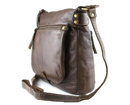 Fashion Classic Vintage Genuine Full Leather Casual Shoulder Travel Bag