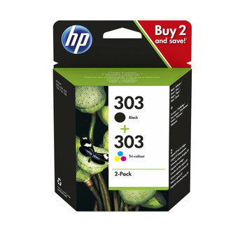 Original HP 303 Black & Colour Ink Cartridge Combo Pack 3YM92AE