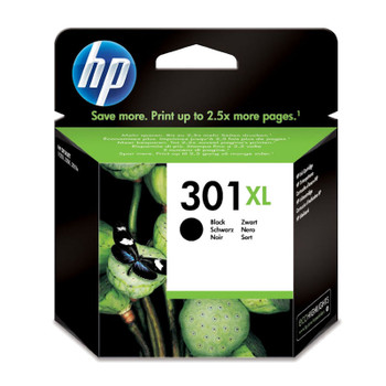 Image for HP 301XL Black Ink Cartridge CH563EE boxed