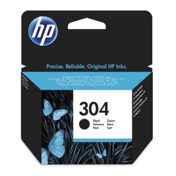 Original HP 304 Black Ink Cartridge N9K06AE boxed