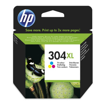 Original HP 304XL Colour Ink Cartridge N9K07AE boxed