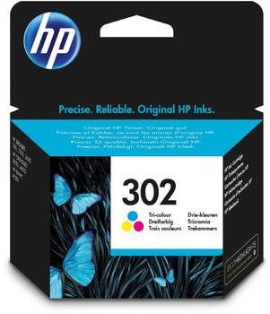 Original HP 302 Colour Ink Cartridge F6U65AE