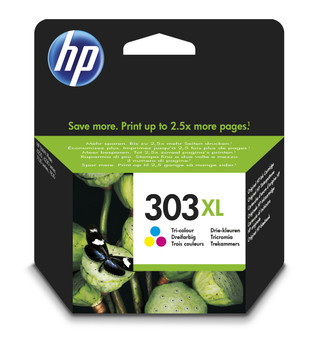 Original HP 303XL Colour Ink Cartridge T6N03AE