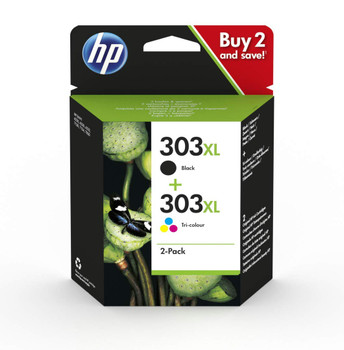 Original HP 303XL Black Colour Value Pack Combo Twin Ink Cartridge T6N04AE 3YN10AE T6N03AE