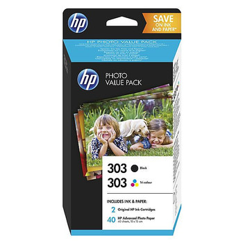 Original HP 303 Black & Colour Ink Cartridge Photo Value Combo Pack Z4B62EE