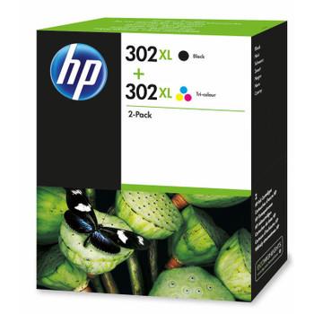 Original HP 302XL Black & Colour Ink Cartridge F6U68AE F6U67AE