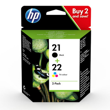 Original HP 21 Black 22 Colour Ink Cartridge C9351AE C9352AE SD367AE