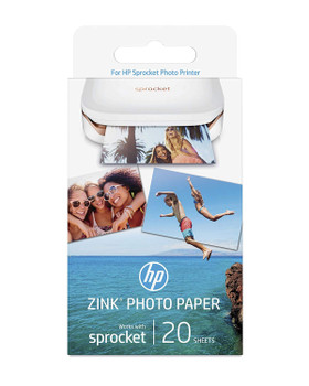 20x HP ZINK Sticky-Backed Photo Paper w4z13a