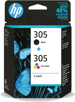 HP 305 Black and Colour Original Ink Cartridge 3YM60AE 3YM61AE