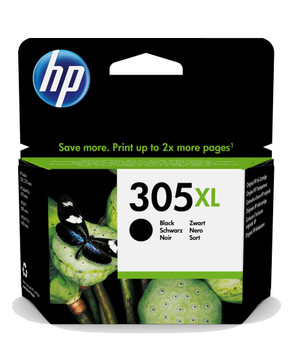 HP Original 305XL Black Ink Cartridge 3YM62AE