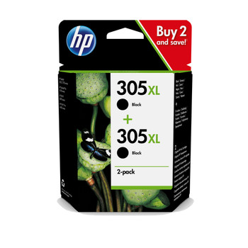 2x HP Original 305XL Black and Colour Ink Cartridges 3YM62AE