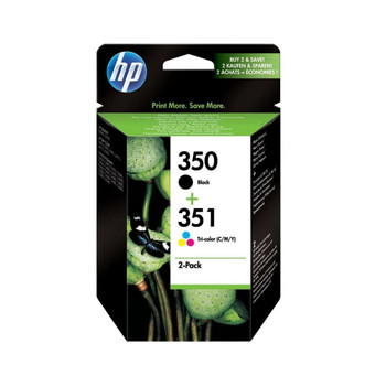 HP Original 350 Black and 351 Colour Ink Cartridge SD412EE