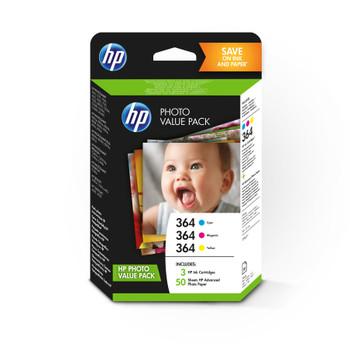 HP Original 364 Ink Cartridge Photo Value Pack Cyan Magenta Yellow T9D88EE