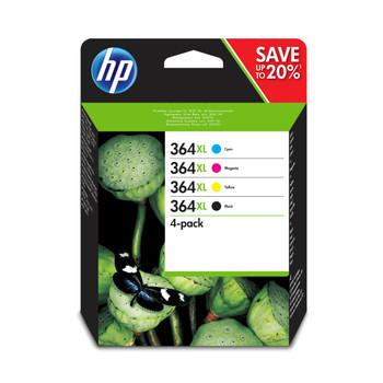 Set of 4 HP 364XL Original Black Cyan Magenta Yellow Ink Cartridge Value Pack N9J74AE