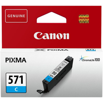 Canon Original CLI571 Cyan Ink Cartridge 0386C001
