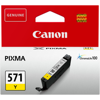 Canon Original CLI571 Yellow Ink Cartridge 0388C001