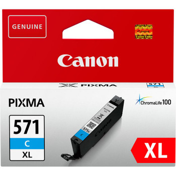 Canon Original CLI571XL Cyan Ink Cartridge 0332C001
