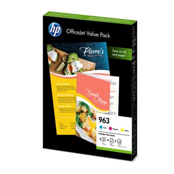 HP Original 963 Cyan Magenta Yellow Ink Cartridge Value Pack 6JR42AE