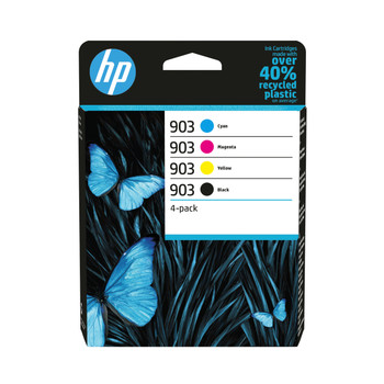 HP original 903 black cyan magenta yellow ink cartridge set of 4 combo multi-pack 6ZC73AE