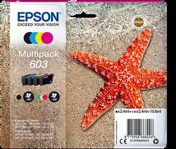 Epson original 603 multipack black cyan magenta yellow ink cartridges C13T03U64010