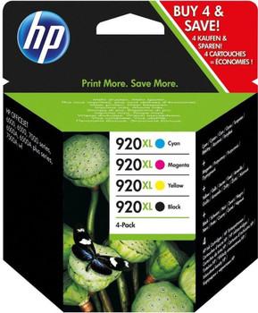 HP original 920XL black cyan magenta yellow ink cartridge set of 4 combo multi-pack C2N92AE