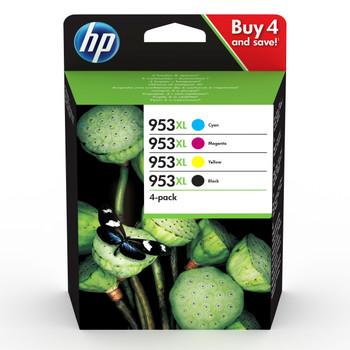 HP Original 953XL Black Cyan Magenta Yellow Ink Cartridge 3HZ52AE
