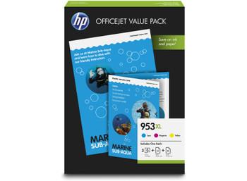 HP Original 953XL Cyan Magenta Yellow Ink Cartridge Photo Value Pack 1CC21AE